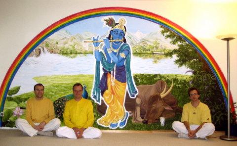 Shankara, Vedamurti und Sukadev im Yoga Vidya Center Köln