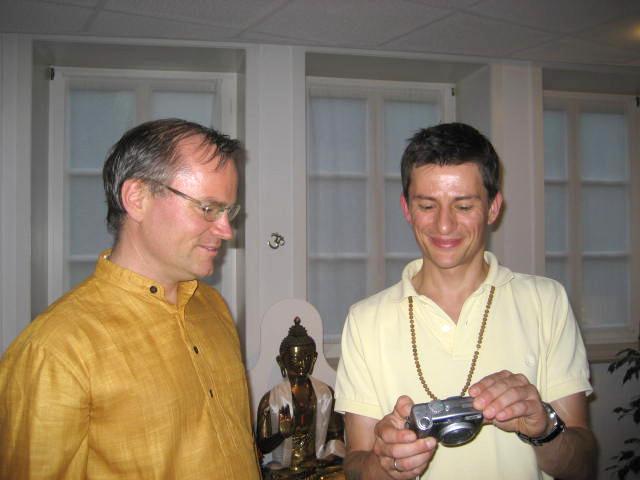 Atmamitra und Sukadev im Yoga Vidya Center Diepholz