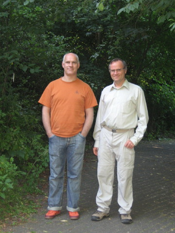 Swami Atma und Sukadev im Kurpark Bad Meinberg