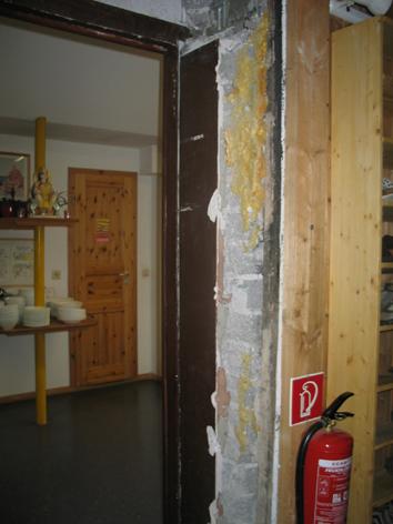 die alte Haustür entfernt 2