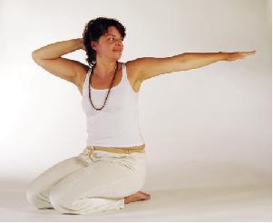 Yogaübung Drehsitz