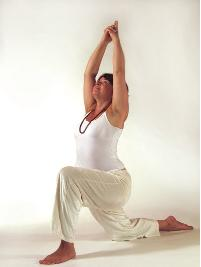 Yoga Heldenstellung