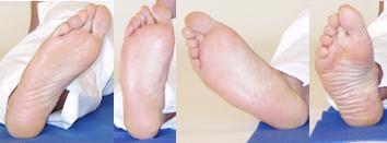 Yogaübung Füße kreisen