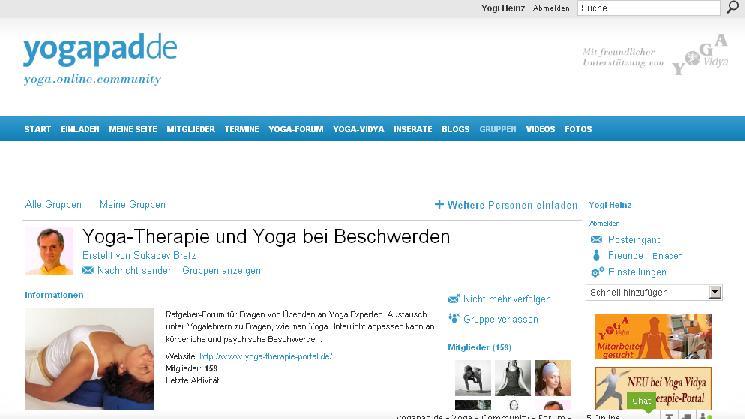 Yogatherapie bei yogapad