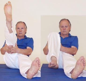 Yogaübung Kniestreckung