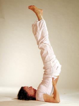 Yogaübung Schulterstand