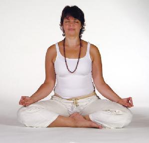 Yogaübung Sitzhaltung