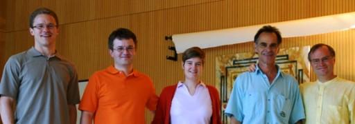 Andreas, Maik, Jeannine, Gerhard neue Sevakas Yoga Vidya Bad Meinberg