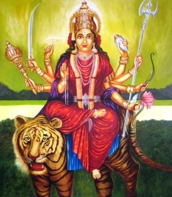 Durga Darstellung im Haus Yoga Vidya Bad Meinberg