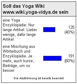 Yoga Vidya Wiki Abstimmung