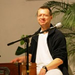 Narendra im Satsang bei Yoga Vidya Bad Meinberg