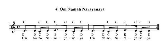 Om Namo Narayanaya - Notenbild