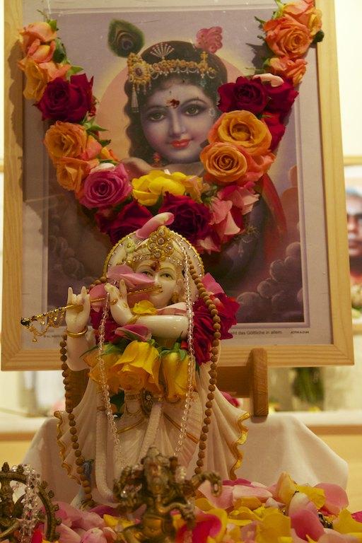 geschmückter Krishna