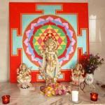 Krishna mit Yantra im Shivalaya