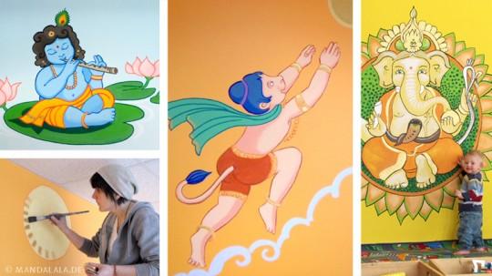 Wandbemalung in der Ganesha Kinderwelt