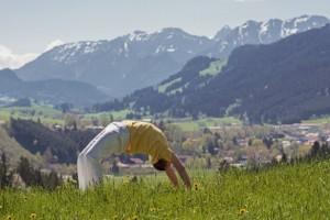 Yoga Ferien im Allgäu