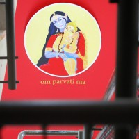 Parvati-Wandbild im Shivalaya Retreatzentrum