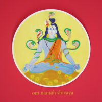 Shiva-Wandbild im Shivalaya Retreatzentrum