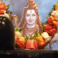 beschmücktes Bild von Shiva