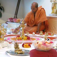 Swami Nivedanandnda in der Vorbereitung