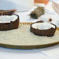 Kokosnusschalen für den Kampfer