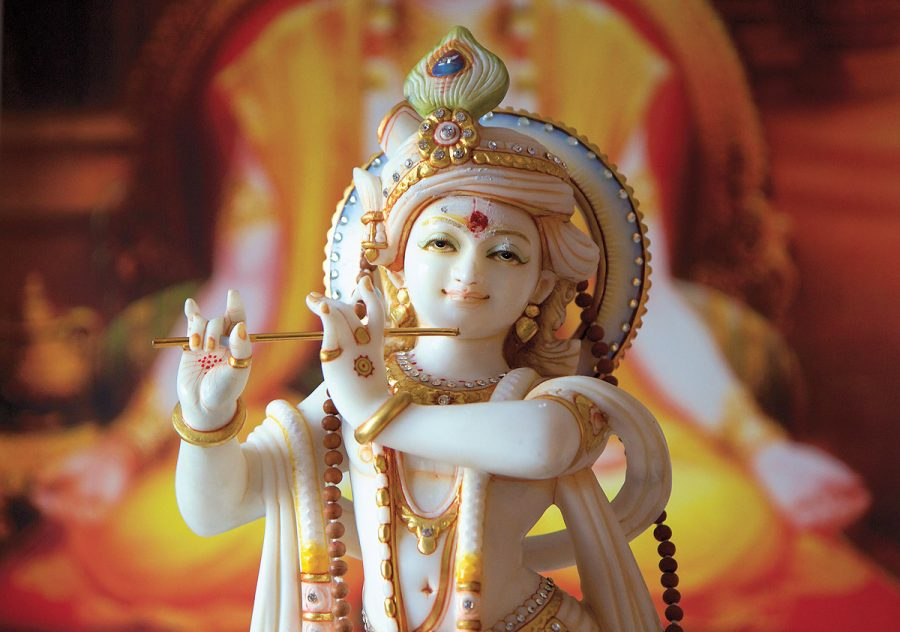 Krishna mit Flöte - Murti