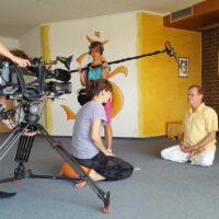 TV-Aufnahmen bei Yoga Vidya