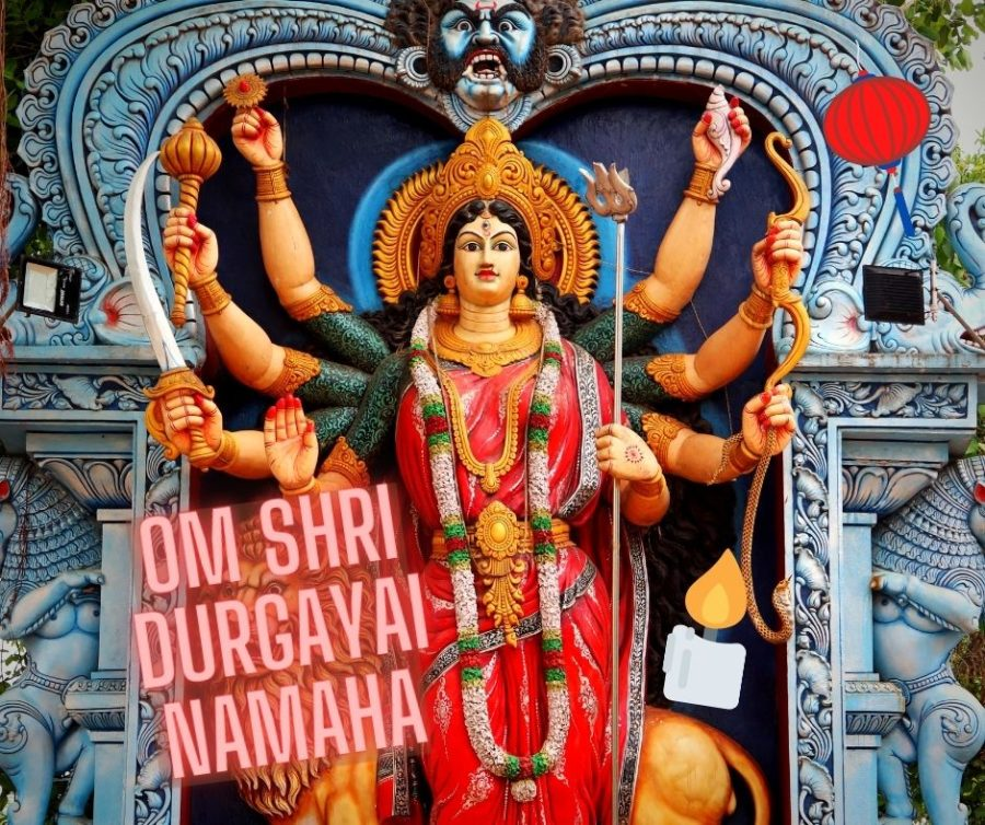 Om Shri Durgaayai Namaha- Das Mantra zu Ehren von Durga an Navaratri