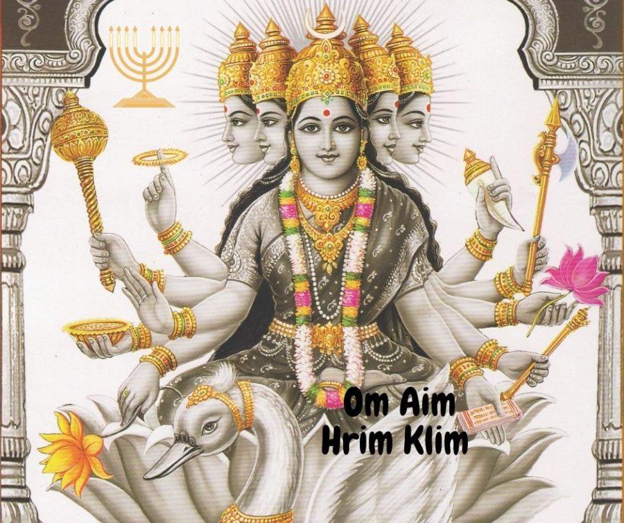 Om Aim Hrim Klim wird an Navaratri für die Verehrung aller Göttinnen verwendet.