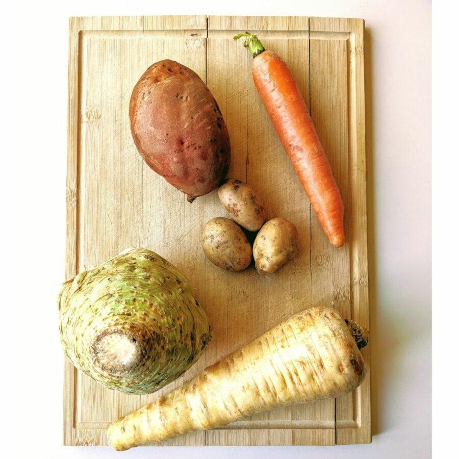 Das Gemüse für die Gemüsechips kann divers sein