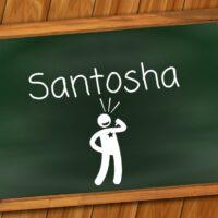 Santosha ist die Zufriedenheit mit sich und der Welt.
