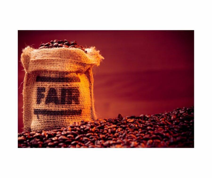 Kaffee können wir auch in Fairtrade kaufen.