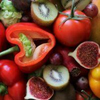 Lebensmittelkombination, Gemüse und Obst